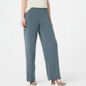 NWT Susan Graver wide leg pull on liquid knit pant